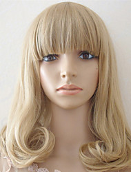 Japan And South Korea Explosion Models of High-Quality High-Temperature Wire Light Golden Long Hair
