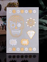 4PCS Flash Tattoo Gold Tattoo Flash Metallic Tattoo Taty Tatoo Tatouage Temporary Tattoo Sticker Metal Tatoos Fake Tatto