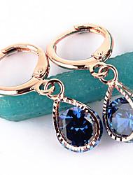 Women's Fashion Gold Filled CZ Stone Dangle Earring