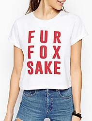 Ronde hals - Katoenmixen Vrouwen - T-shirt - Korte mouw