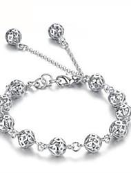 Silver world  Women's 925 Silver Fashion Cut Out Bracelet