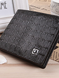 Free Shipping! New Fashional  Mens Black Real Genuine Leather Bifold Clutch Wallet Credit ID Card Coin Purse.