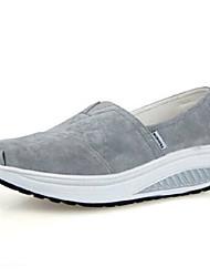 Zapatos de mujer - Tacón Cuña - Cuñas / Plataforma / Zapatos de Cuna - Mocasines - Exterior / Oficina y Trabajo / Deporte - Cuero -Negro