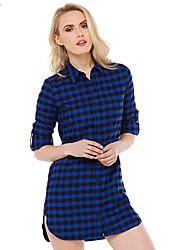 Women's American Apparel Grid Boyfriend Wind Sexy Dress