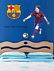 pegatinas de pared Adhesivos de pared, emocionantes andres fútbol pvc messi pegatinas de pared