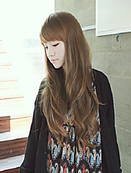 Japan and South Korea Fashion Natural Light Brown Curly Hair Wig