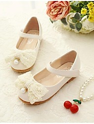 Girls' Shoes Outdoor/Party & Evening/Dress/Casual Round Toe/Closed Toe Leatherette Flats Pink/Beige