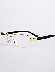 [Free Lenses]  Men 's Rectangle Half-Rim Reading Glasses