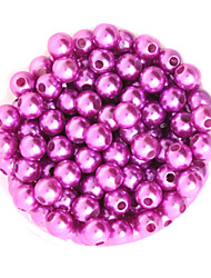 Beadia 64g(Approx 300Pcs)  ABS Pearl Beads 8mm Round Light Purple Color Plastic Loose Beads DIY Accessories