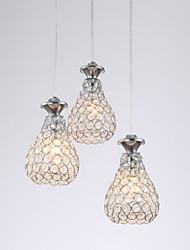 LED Light Bulb Crystal Pendant Modern Simple MD9908-3