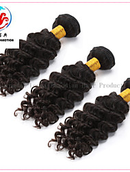 3 Pieces 6A Hot Sale Natural Colour Deep Wave Remy  Malaysian Hair Weave
