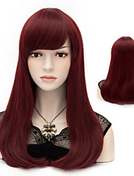 European Style Fashion Hair Red Wine Repair The Face of High-Quality Synthetic Wigs