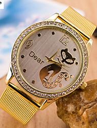o amor da mulher para relógio de diamantes pulseira de relógio