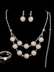 Women Party/Casual Western Style Elegant Alloy/Cubic Zirconia Necklace/Earrings/Ring Sets