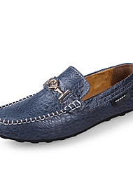 Men's Shoes Office & Career / Party & Evening / Casual Leather Loafers / Slip-on Black / Blue / Brown / Green
