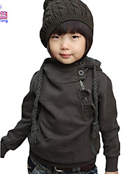 Waboats Winter Fall Boys Skew Zipper Hood Fleece Velvet Jacket