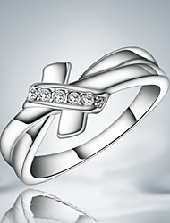 Guaranteed 100% women silver plated wedding Statement Ring