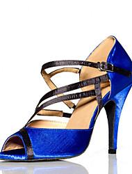 Zapatos de baile (Azul) - Salsa - No Personalizable - Tacón de estilete