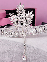Headpieces Clear Crystals Wedding Bridal Tiara  Tree Leaf Crown Crystal Tassel Headband