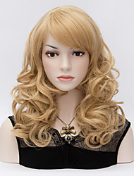 European and American Wind Inclined Bang Highlights Short Curly Wig