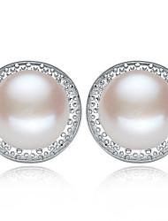 z & x® 925 argenté classique et élégant fraîches boucles d'oreilles perles d'eau mariage / fête / jour