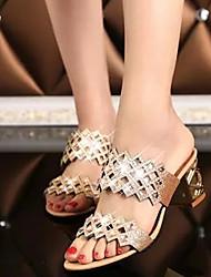 Pumps/Heels ( PU , Azul/Verde/Rosa ) Sapatos de Senhora - Salto Massudo
