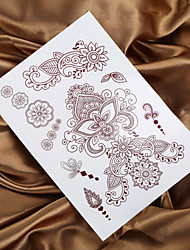 4PCS Indian Henna Tattoo Mendhi Painting Tattoo Flower Temporary Tattoo Sticker Body Taty Fake Tatto