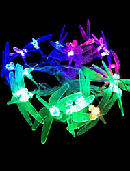 2W 4 Meter Outer Diameter 20pcs Bulb LED Modeling String Lighting Dragonfly Lights, RGB Color