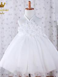 Girl White Tulle With Flower Ballerina Inspired Dress