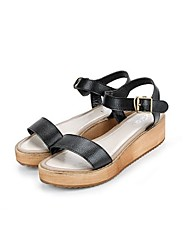 Women's Shoes Flat Heel Mary Jane Sandals Casual Black/White