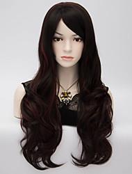 vente chaude couleur de mélange naturel du corps dame d'onde Perruques belles perruques de cheveux synthétiques