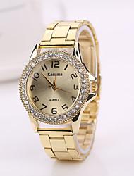 c&d 2015 de ouro da moda prata aço cor banda relógio relógios genebra relógios de marca de luxo homens
