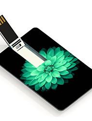 64gb usb tarjeta de diseño de memoria USB hermosa flor