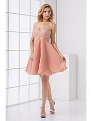 Formal Evening Dress Sweetheart Knee-length Chiffon Dress