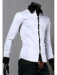 High-Quality Chinese Style Mens Shirts Fashion 2015 Long-Sleeve Shirt 5 Color