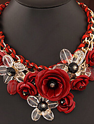 Masoo Women's Fashion New Arrival Hot Selling High Quality Flower Crystal Necklace