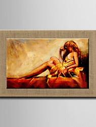peintures à l'huile un panneau nus abstraits modernes lin naturel prêt à accrocher peints à la main