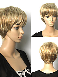 Popular Short Blone Hair Wigs Hair Wave Synthetic Hair Wigs