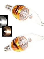 2 pcs Ding Yao E14 15W 5LED COB 450LM 2800-3500/6000-6500K Warm White/Cool White Candle Bulbs AC 85-265V