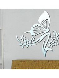 Butterfly Shaped DIY Mirror Wall Stickers Art Decals
