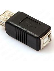 usb 2.0 Tipo de uma fêmea para USB 2.0 tipo amplificador conector adaptador de impressora b feminino conversor trocador de acoplador