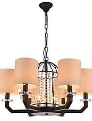 Modern Classic Personality Contracted  Wrought Iron Crystal chandelier(6+3) Light with Height Adjustable