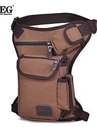 IBEG High Quality Men Belt Bag Canvas Leg Bags Men TravelBicycle Bags Waist Pack Bag Fanny Pack