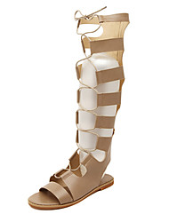 Women's Shoes  Flat Heel Mary /Gladiator Sandals Casual Black/Beige
