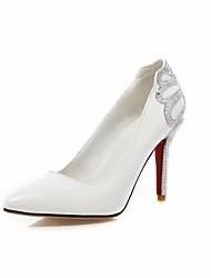 Women's Shoes Synthetic/Glitter/Leatherette/Rubber Stiletto Heel Heels/Pointed Toe/Closed Toe Pumps/HeelsWedding/Office&