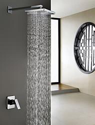 "Conceal Install Shower &Bath Faucet Bathroon Rainfall 8"" ABS Shower Mixer Tap"