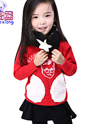 Waboats Winter Girls Boys Printed Pockets Velvet Hood Top