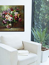 Oil Paintings One Panel Modern Flowers Hand-painted Canvas Ready to Hang