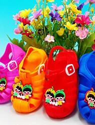 Female Baby Plastic Pvc Material Sandals Summer Comfortable Non Slip Cute Sandals  For 1-3 Children Safe And Reliable
