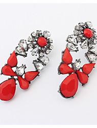 Love New Arrival Fashion Crystal Gem Earrings